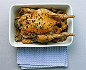 Roast chicken with shallots and lemon thyme
