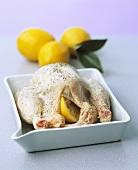 Rohes Zitronenhähnchen