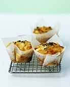 Savoury Caerphilly cheese and spring onion muffins