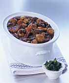 Boeuf bourgignon with parsley