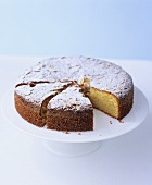 Almond Madeira cake with icing sugar