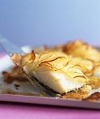 Haddock with potato crust