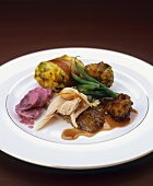 Turkey with accompaniments