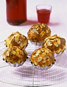 Small brioches with aniseed and flaked almonds