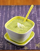Courgette soup with coconut cream