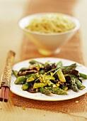 Stir-fried asparagus with jelly ear fungus