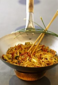 Bami goreng with celery and chard (Indonesia)
