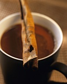 Café mexicano with chocolate and cinnamon