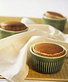 Coffee and chocolate soufflé