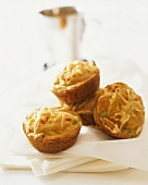 Sweetcorn and pepper muffins with Alpine cheese