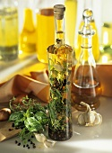 Home-made tarragon vinegar