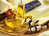 Tea and aromatic oils for relaxation and for renewed vitality
