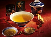 Ginseng: root, tablets, powder and tea