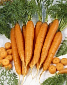 Carrots, whole and sliced