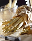 White asparagus in paper bag