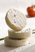 Three Chèvre cheeses (goat's milk cheese)