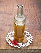 Piri-piri sauce in a bottle