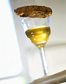 Cantucci e Vin Santo (Almond biscuit with dessert wine, Italy)