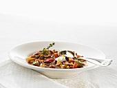 Chili sin carne (Vegetable chili with dark chocolate)