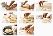Making Chinese Mandarin pancakes