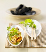 Mussels in lemon grass and coconut sauce (Fusion cooking)