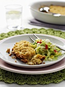 Chick-pea bake with salad