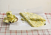 Courgette and sheep's cheese frittata