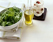 Fresh purslane, salad oil, cheese
