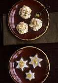Star biscuits with candied orange peel & fruity coconut macaroons