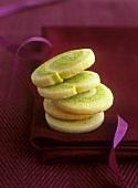 Pistachio pinwheel biscuits