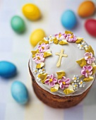 Ukrainian Paska (traditional Easter cake)