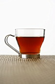 Rooibos tea in a glass cup