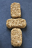 Three wheat biscuits (breakfast cereal product)