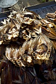 Dried, grilled fish on a Thai market stall