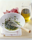 Herb vinaigrette with sherry vinegar