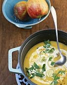 Apfel-Lauch-Suppe mit Curry