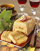 Sweet terrine with apples and cider