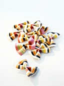Multicoloured bow-tie pasta (farfalle)
