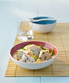 Fish with ginger & lemon grass in coconut sauce (Thailand)