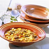 Moroccan beef and chick-pea soup