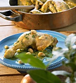 Almond chicken with ginger and saffron