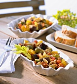 Caponata (Sweet and sour vegetables with raisins, Italy)