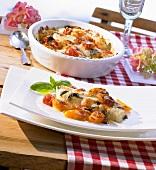 Pesce alla sarda (Fish fillets with tomatoes & mozzarella)