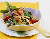 Spicy Swiss chard & vegetable stir-fry with coconut sauce