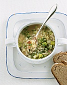 Herb soup with pearl barley