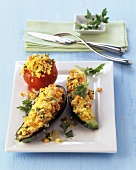 Vegetables stuffed with quinoa