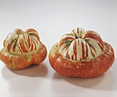 Two Turk's turban squashes (decorative and edible)