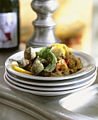 Whelks with vegetables
