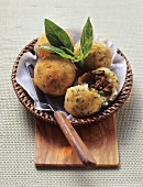 Arancini (deep-fried rice balls), Sicily, Italy