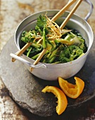 Chinese broccoli with orange sauce